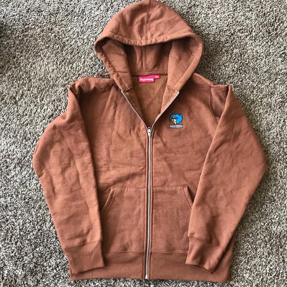 c42ff3122fef Supreme Gonz Ramm Zip Up Sweatshirt Rust
